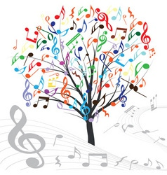 Music tree vector design element vintage backgroun vector
