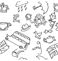 Pattern with London touristic icons vector image