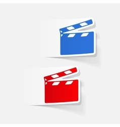 Realistic design element clapper cinema vector