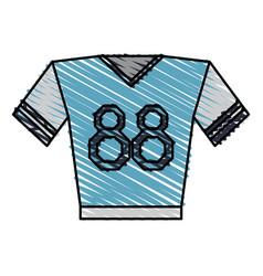 Shirt clothe sport vector