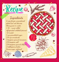 sketchbook style recipe vector image