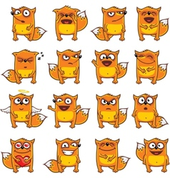 smiley foxes vector image