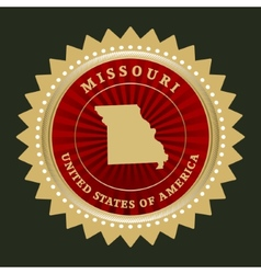 Star label missouri vector