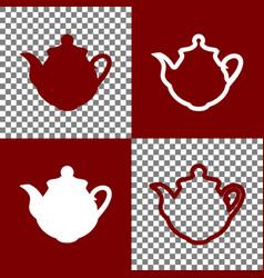 tea maker kitchen sign bordo and white vector image vector image
