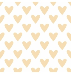 Tile pastel pattern hearts on white background vector image