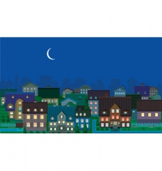townhouses night vector image vector image
