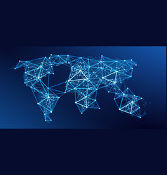 world map global network vector image