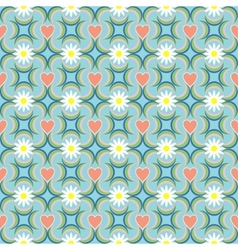 Seamless love heart pattern vector