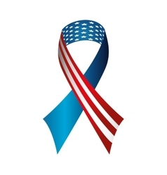 Ribbon america usa vector