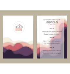 Cover design with curved shapes as a wave or hill vector