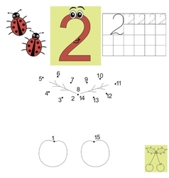 Children s math homework figure two connect the vector