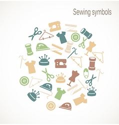 Sewing symbols vector