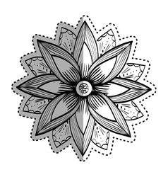 Beautiful flower in black and white vector