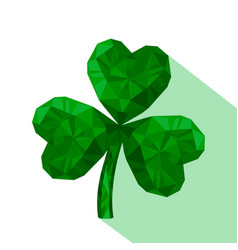 Isolated of crystal emerald shamrock vector