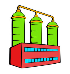 oil refinery or chemical plant icon icon cartoon vector image