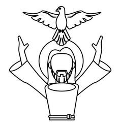 Jesus christ holy spirit catholic symbol outline vector