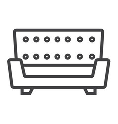 Sofa line icon furniture and interior vector