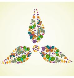 Spring green energy icon vector