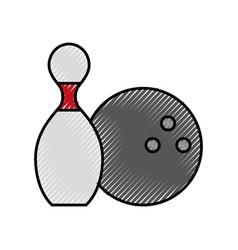 Scribble pin and ball cartoon vector