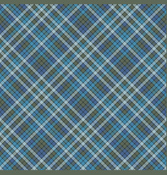 Blue check plaid fabric texture textile seamless vector