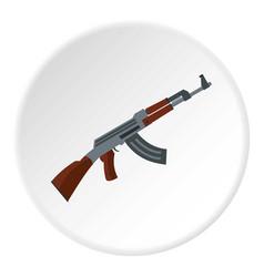 submachine gun icon circle vector image
