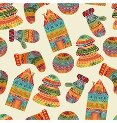 Seamless winter christmas pattern vector