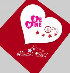 Valentine gift red heart vector