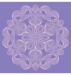Contemporary doily round lace floral pattern vector image