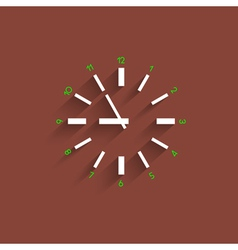 Clock with transparent shadow vector image