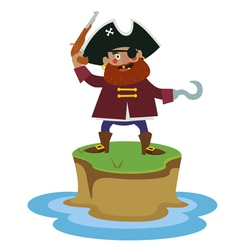 Island with pirate vector