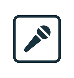 Microphone icon rounded squares button vector