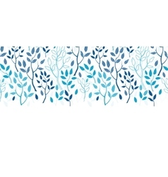 Blue forest horizontal border seamless vector