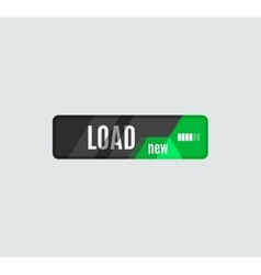 Load button futuristic hi-tech ui design vector