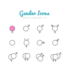 Gender icon set vector