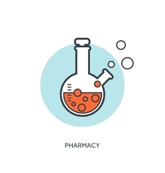 Pharmacy flat web internet vector