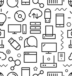 Different web icons seamless pattern vector