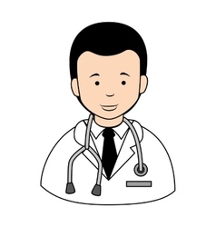 Doctor stethscope profile icon vector