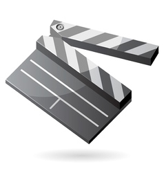 Isometric icon of clapper board vector image