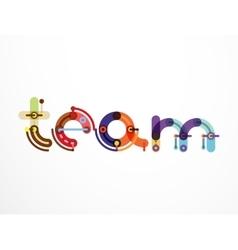 Team word lettering banner vector