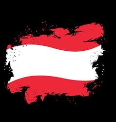 Austria flag grunge style on black background vector
