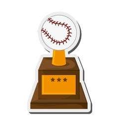 Baseball trophy icon vector