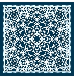 Blue scarf design with geometric pattern vector