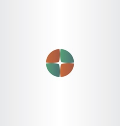 Compass circle logo camping vector