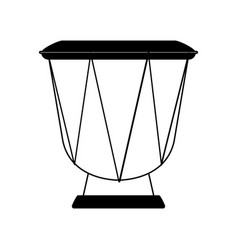 Djembe drum musical instrument icon image vector