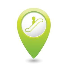 Escalator icon green map pointer3 vector