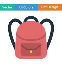 Flat design icon of school rucksack vector