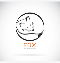 Fox design on white background wild animals vector