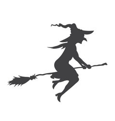 halloween witch glyph icon halloween and scary vector image vector image