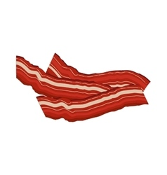 Image color with strips of bacon vector