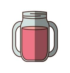 Jar glass drink restaurant refresment shadow vector
